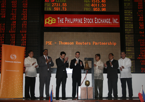 Philippine Stock Exchange and Thomson Reuters partnership